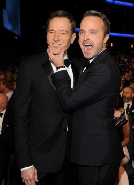 Bryan Cranston and Aaron Paul, les joyeux lurons de Breaking Bad