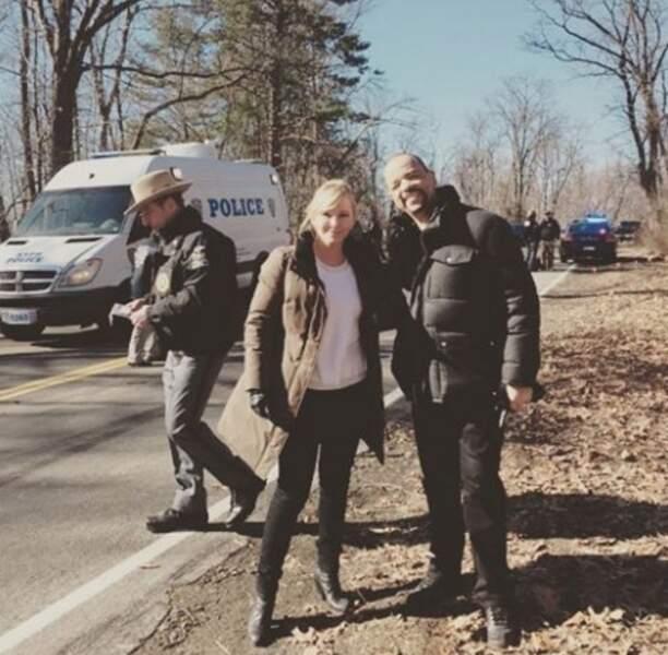 Un petit coucou des flics de New York, unité spéciale : Les inspecteurs Rollins (Kelly Giddish) et Tutuola (Ice-T).