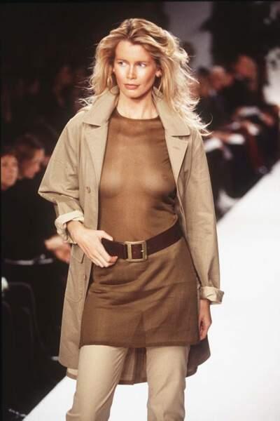 Claudia Schiffer fut l'un des mannequins stars du siècle dernier