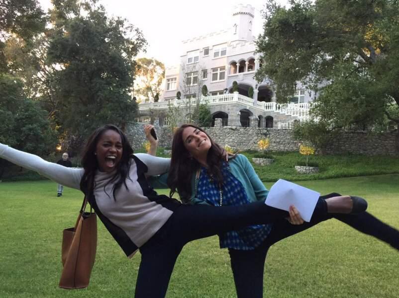 ...les filles aussi font des acrobaties !