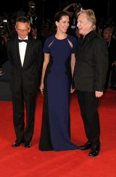 Patrice Leconte et les acteurs Rebecca Hall et Alan Rickman