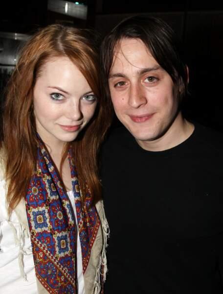 Avec son nouveau boyfriend, l'acteur Kieran Culkin, avec qui elle vit un an d'amour en 2010...