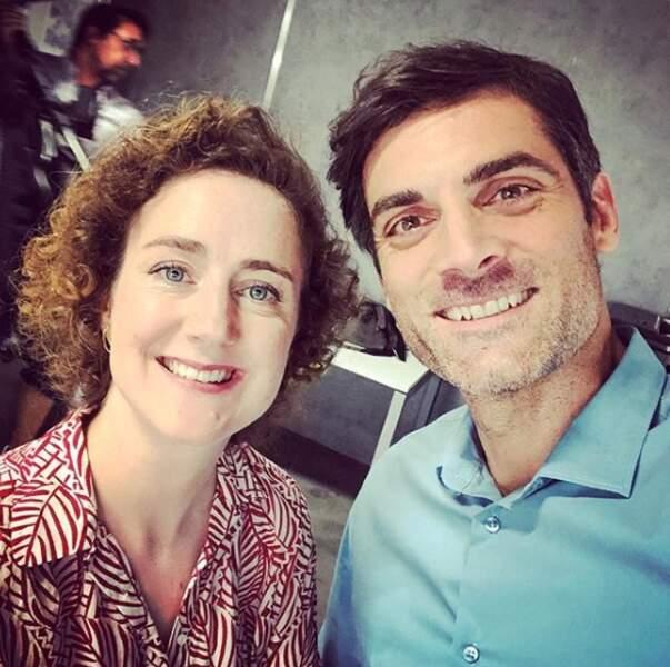 Gil Alma et Joséphine de Meaux sur le tournage d'une nouvelle série nommée César Wagner