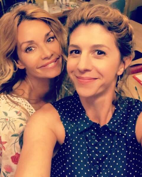 Selfie également pour Juliette Tresanini avec Ingrid Chauvin.