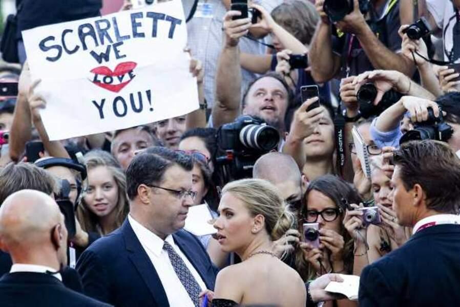 Les nombreux fans de la star