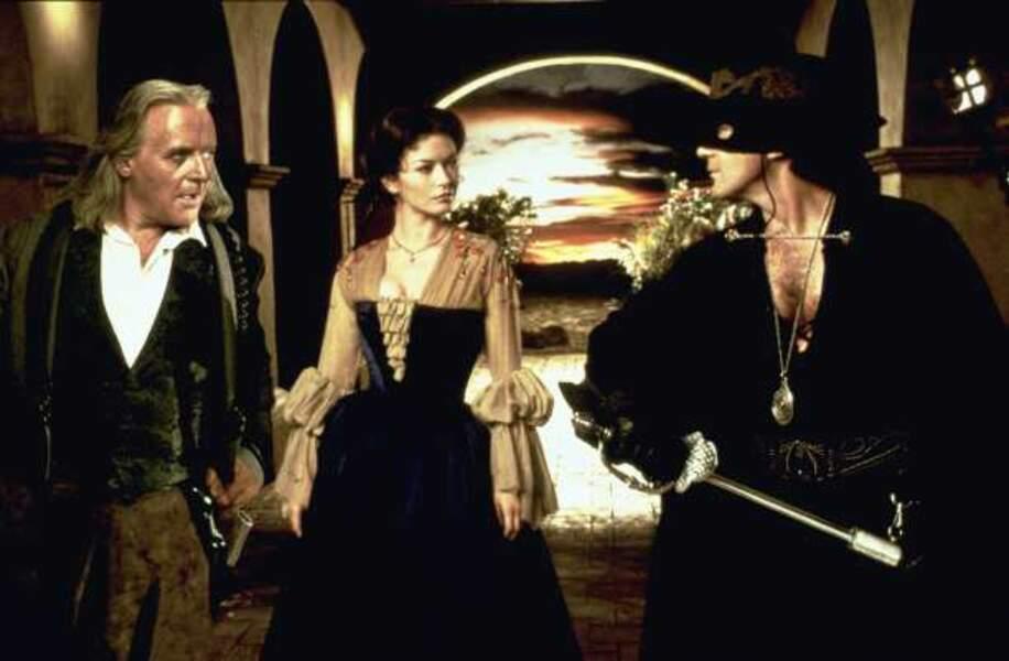 Anthony Hopkins et Antonio Banderas : des partenaires de choix dans Le Masque de Zorro
