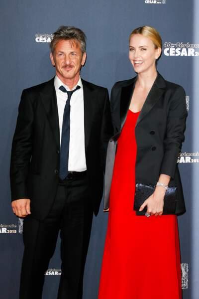 Sean Penn et sa compagne Charlize Theron
