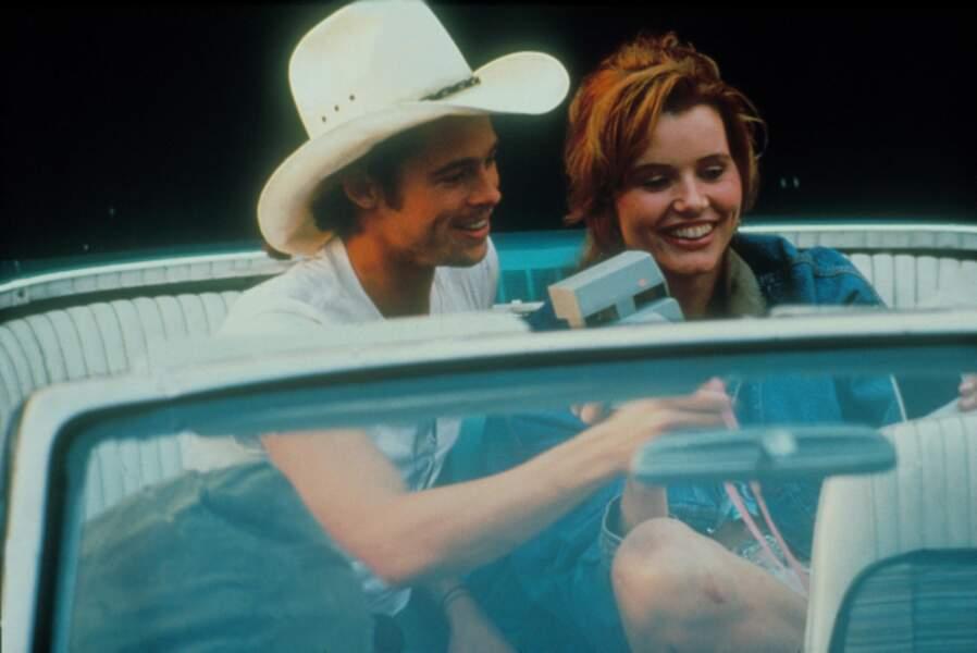 Thelma et Louise aurait sérieusement rapproché Brad et Geena Davis, mais l'idylle restera au stade de la rumeur