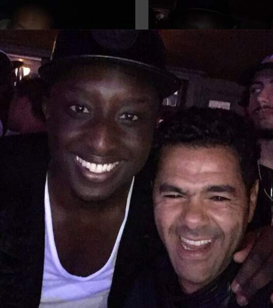 Avec son pote Ahmed Sylla