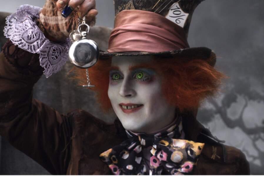 Alice au pays des merveilles (2010) : et toujours Johnny Depp, en chapelier fou