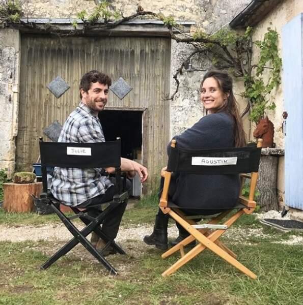 Agustin Galiana et Julie De Bona, complices sur le tournage Ils ont échangé mon enfant.