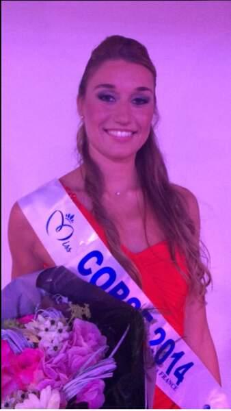 Dorine Rossi, 20 ans de Porto Vecchio a été élue Miss Corse 2014