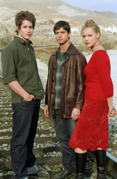 Roswell (de 1999 à 2001), avec Brendan Fehr et Jason Behr