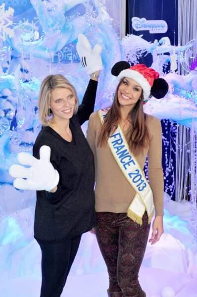 Sylvie Thellier et Marine Lorphelin aux couleurs de Disney