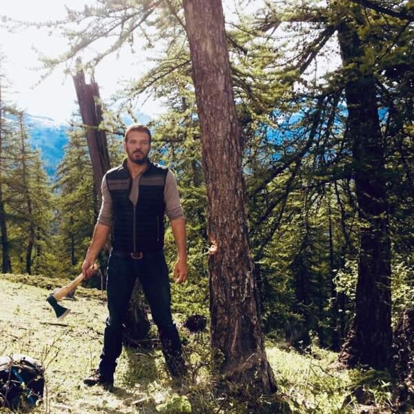 Samuel Le Bihan joue les enquêteurs et les bûcherons dans Alex Hugo, en tournage dans les Alpes du sud
