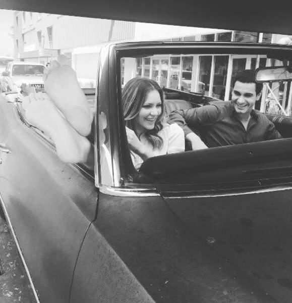 En route avec le duo de Scorpion, Katharine McPhee et Elyes Gabel