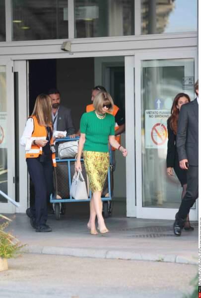 Anna Wintour débarque à l'aéroport
