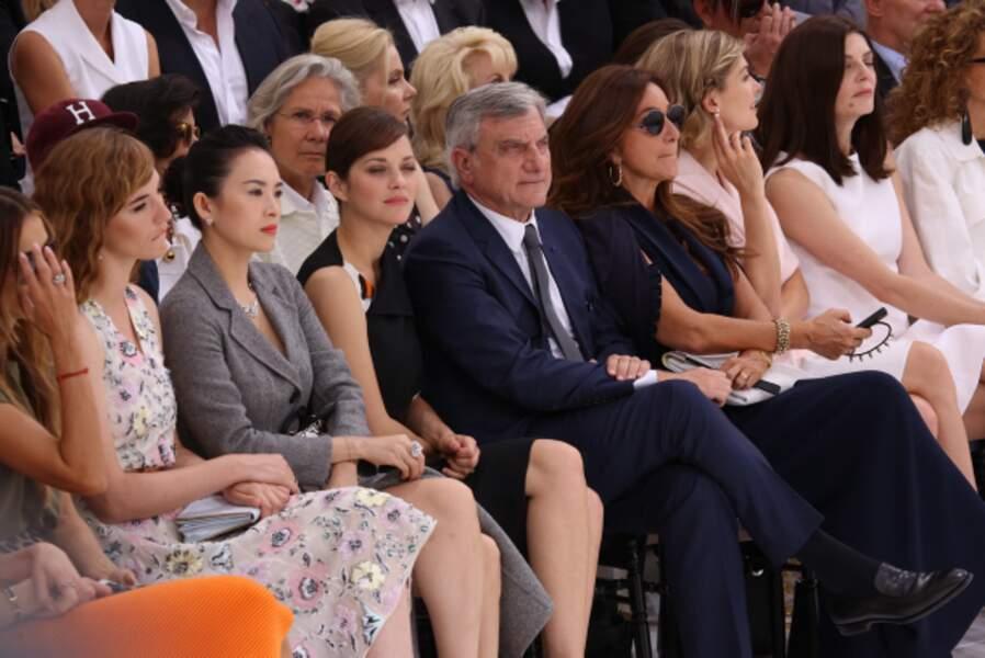 Marion Cotillard au premier rang du défilé Dior