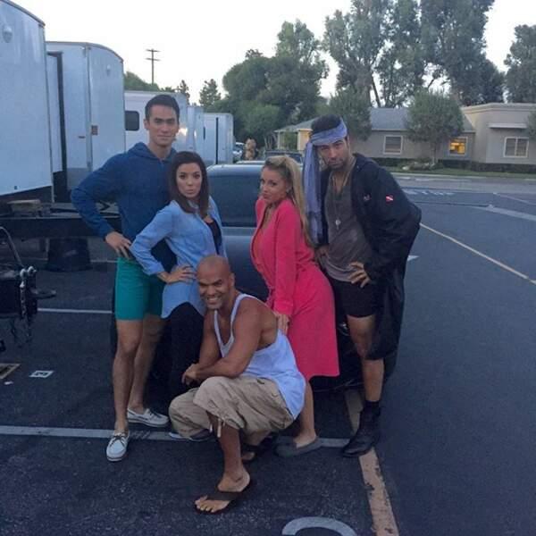 Eva Longoria a terminé le tournage de sa prochaine série, Hot and Bothered !