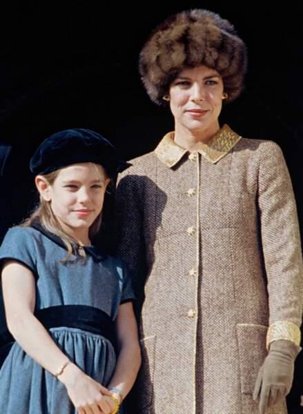 Charlotte et sa mère en 1996