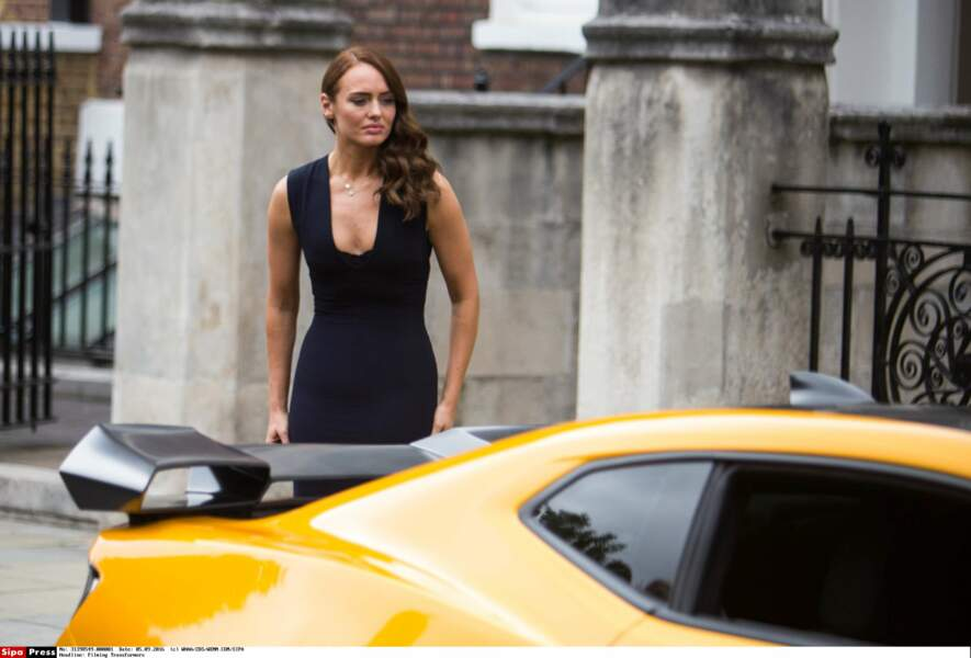 Laura Haddock sur le tournage de Transformers - The Last Knigh, ça promet !
