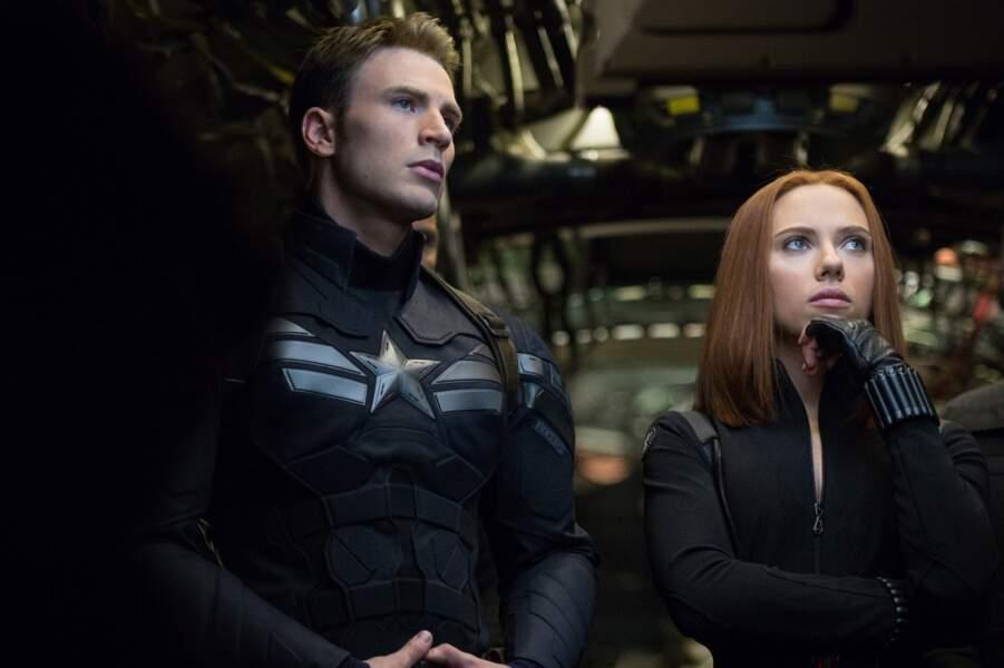 En pleine réflexion avec Captain América, dans Le soldat de l'hiver (2014)