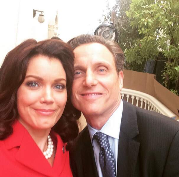 Scandal : Bellamy Young et Tony Goldwyn s'apprécient sûrement plus que le président Grant et sa femme Mellie