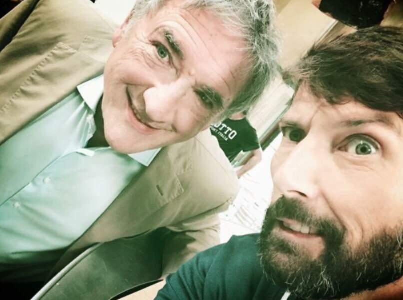 Du côté de Plus belle la vie, Laurent Kérusoré, le roi du selfie, a sévi et fait sourire Alexandre Fabre
