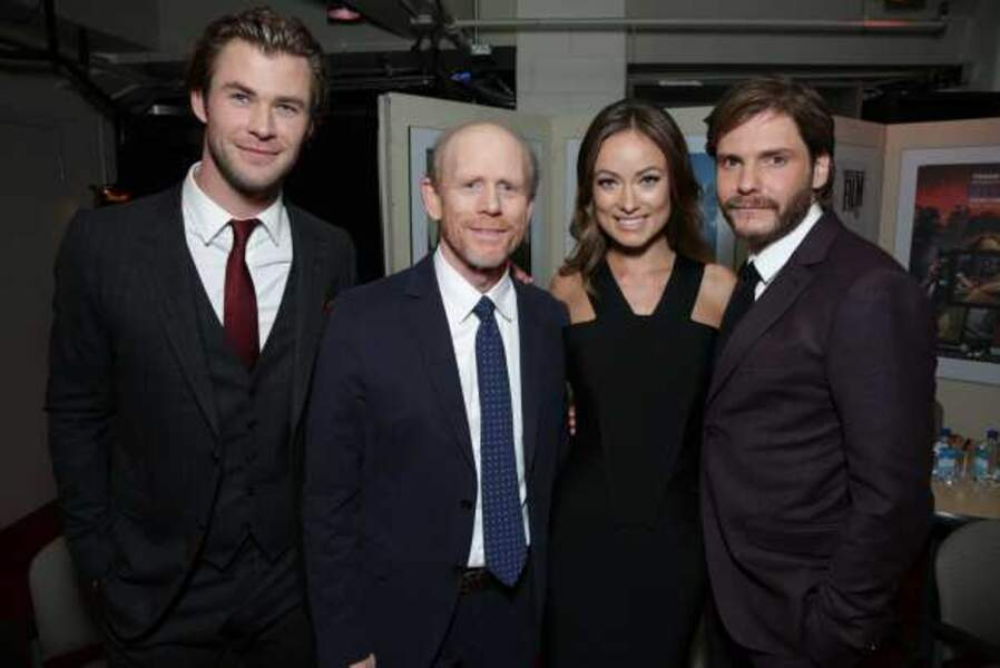 L'équipe de Rush : Chris Hemsworth, Ron Howard, Olivia Wilde et Daniel Brühl