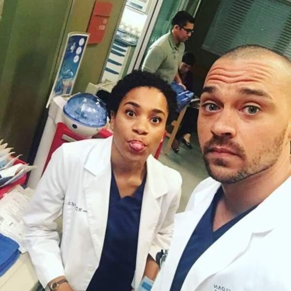 Kelly McCreary et Jesse Williams ont partagé de nombreuses scènes dans Grey's Anatomy...
