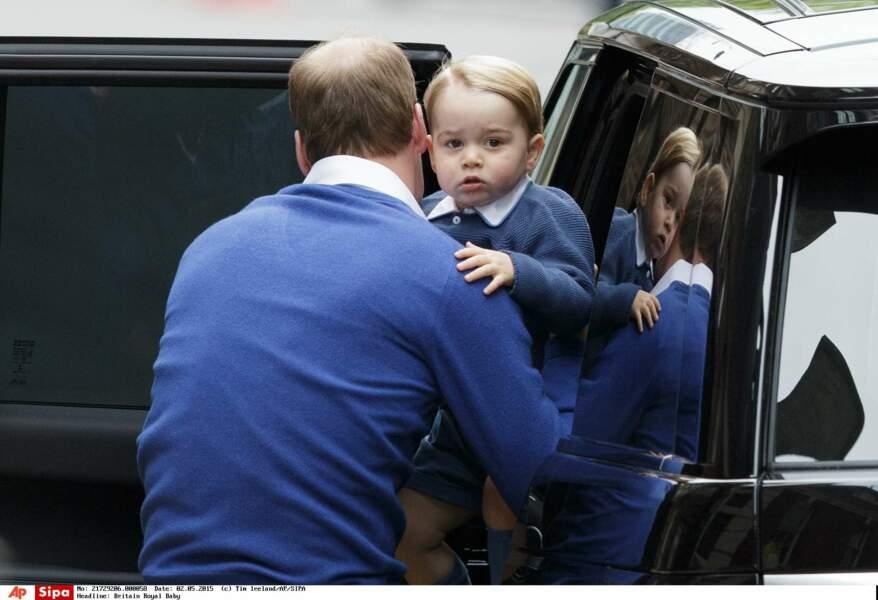 … pour revenir ensuite avec leur fils de 2 ans, le prince George