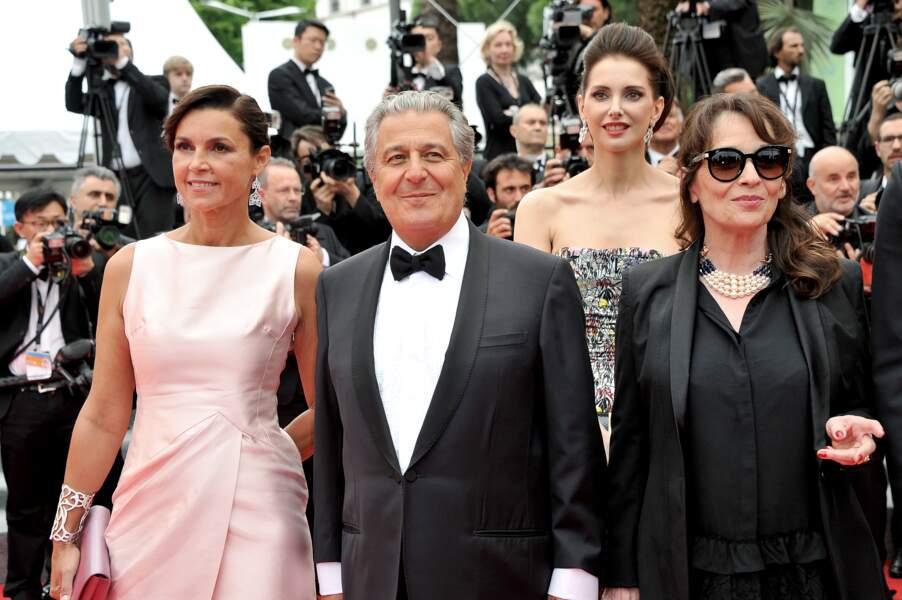 Chantal Lauby, Christian Clavier et sa compagne Isabelle De Araujo
