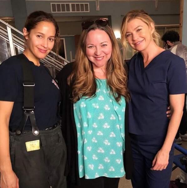 La rencontre entre Meredith Grey et l'héroïne du spin-off de Grey's Anatomy, Station 19, a enfin eu lieu !