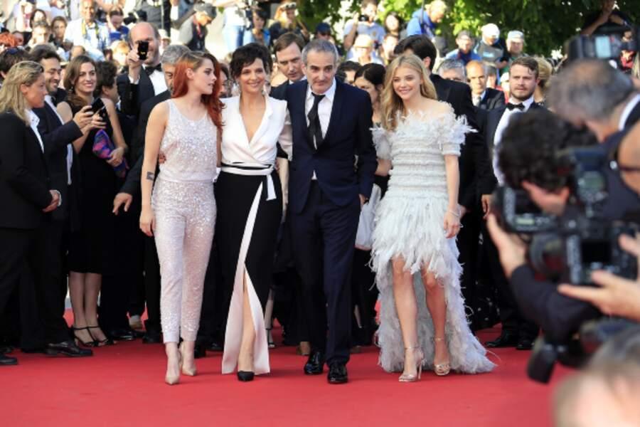 Kristen Stewart, Juliette Binoche, Olivier Assayas, Chloë Grace Moretz