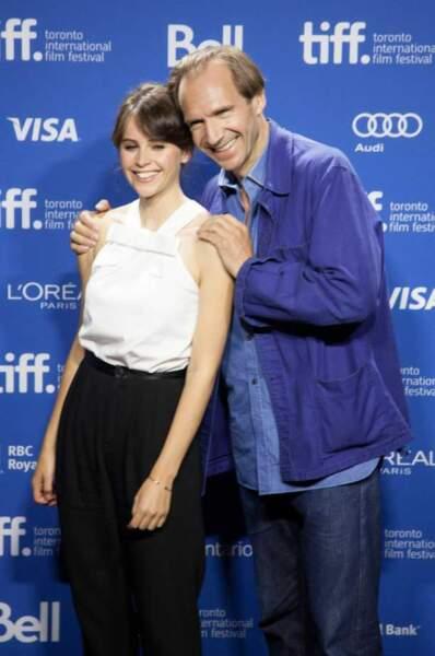 Felicity Jones et Ralph Fiennes
