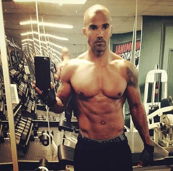 """Shemar Moore occupe la salle de gym du tournage, """"pour entretenir le rêve"""" dit-il"""
