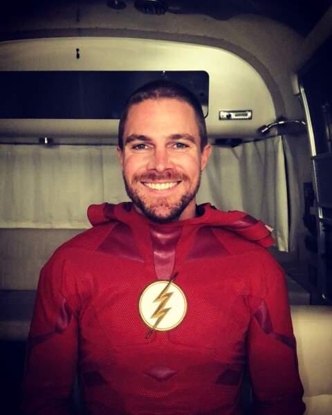 Stephen Amel, toujours heureux de jouer Flash !