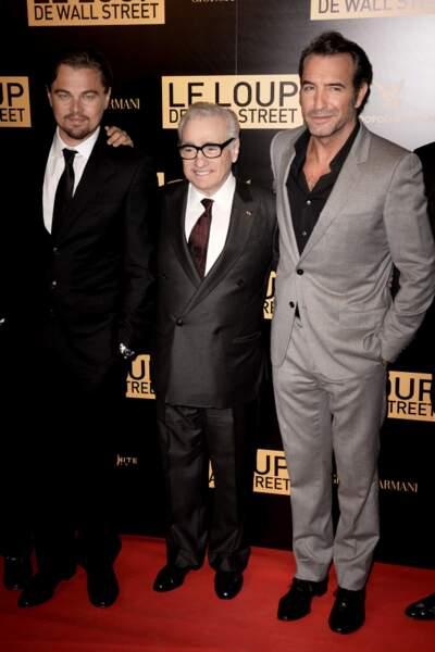 Leonardo Di Caprio, Martin Scorsese et Jean Dujardin