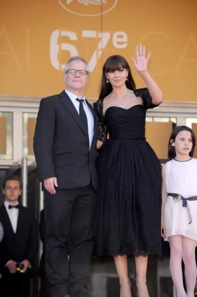 Monica Bellucci et Thierry Frémaux, délégué général du Festival de Cannes