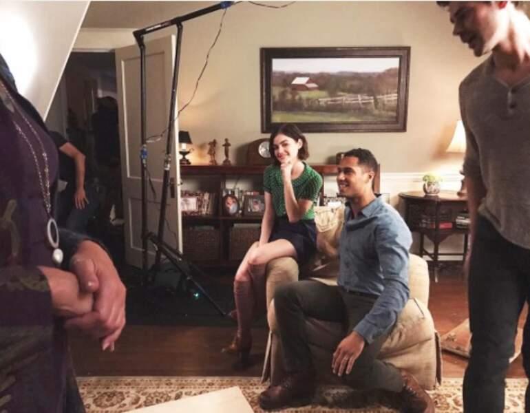 Lucy Hale a posté une photo du tournage de sa nouvelle série, Life Sentence