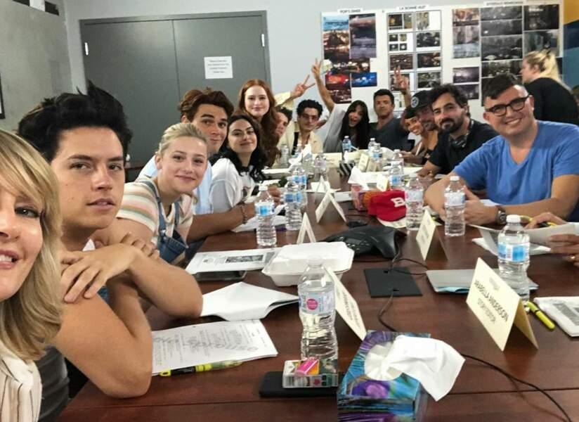 Première séance de travail pour les comédiens de Riverdale, qui ont beaucoup pensé à Luke Perry