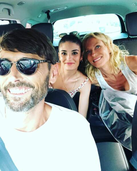 Ca tourne avec le sourire entre Laurent Kérusoré, Eléonore Sarrazin et Rebecca Hampton dans Plus belle la vie !