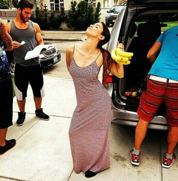Gaëlle Garcia Diaz aime beaucoup les bananes