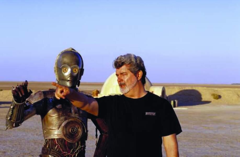 George Lucas sur le tournage