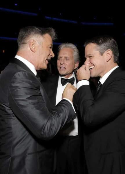 Alec Baldwin, Michael Douglas et Matt Damon aux Emmy Awards 2013