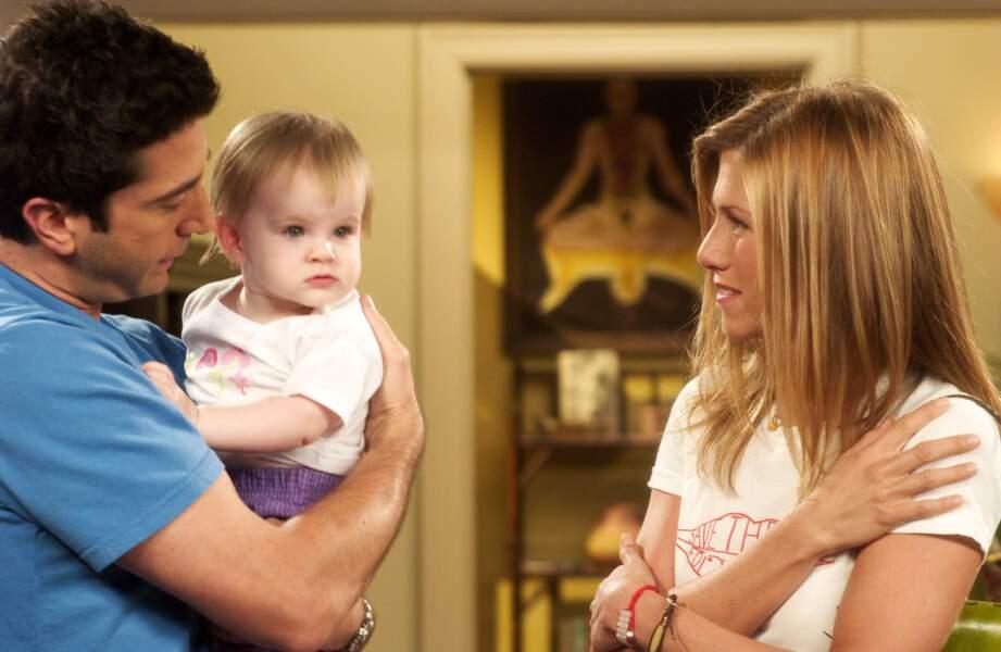 Dans Friends, Ross et Rachel sont devenus parents d'une petite fille prénommée Emma