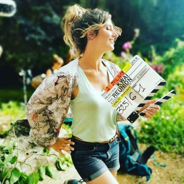 Laetitia Milot s'est envolée sous le soleil réunionnais pour tourner Réunion, prochaine série de France 2