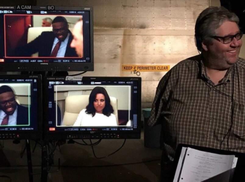 Présent à toutes les étapes de réalisation, David Mandel, le producteur de Veep, veille au grain