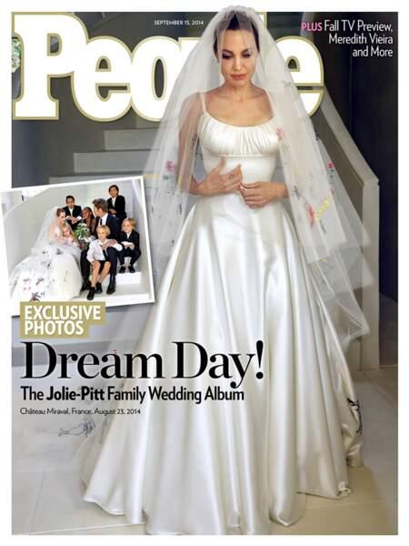 Après neuf ans de vie commune, Brad et Angelina se marient enfin le 23 août 2014, en France.