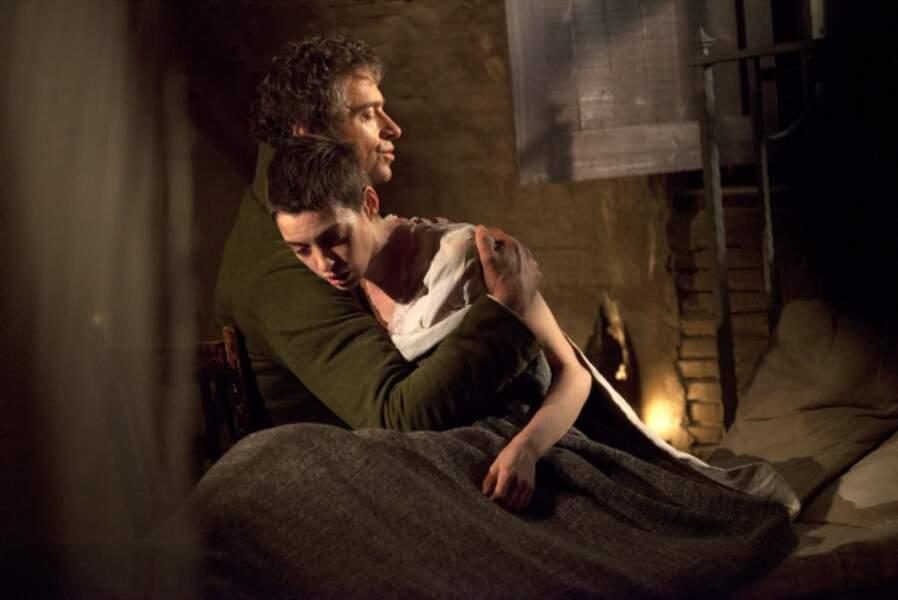 Aux côtés de Jean Valjean (Hugh Jackman)